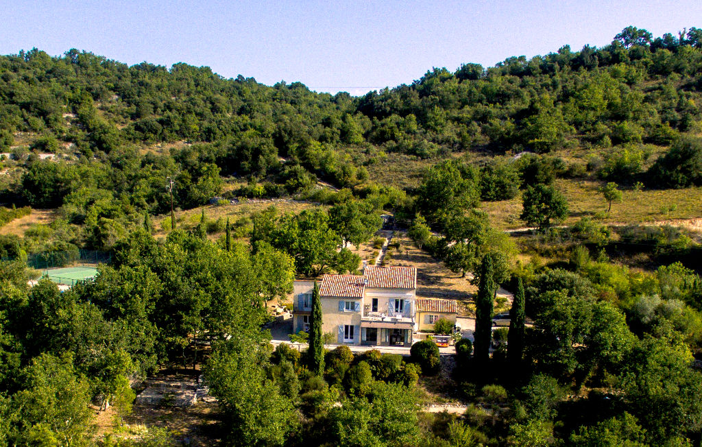 Uzes region,  panoramic views, house with B& B, large pool and tennis court on over 3 acres of land
