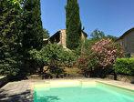 Uzès région, maison de charme XVII ème, hameau paisible 320m2 SH sur 5400 jardin avec piscine