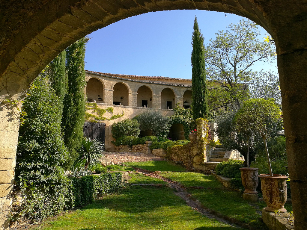 Uzès, close by, gracious and elegant, 17th c Bastide with its gardens and bassin