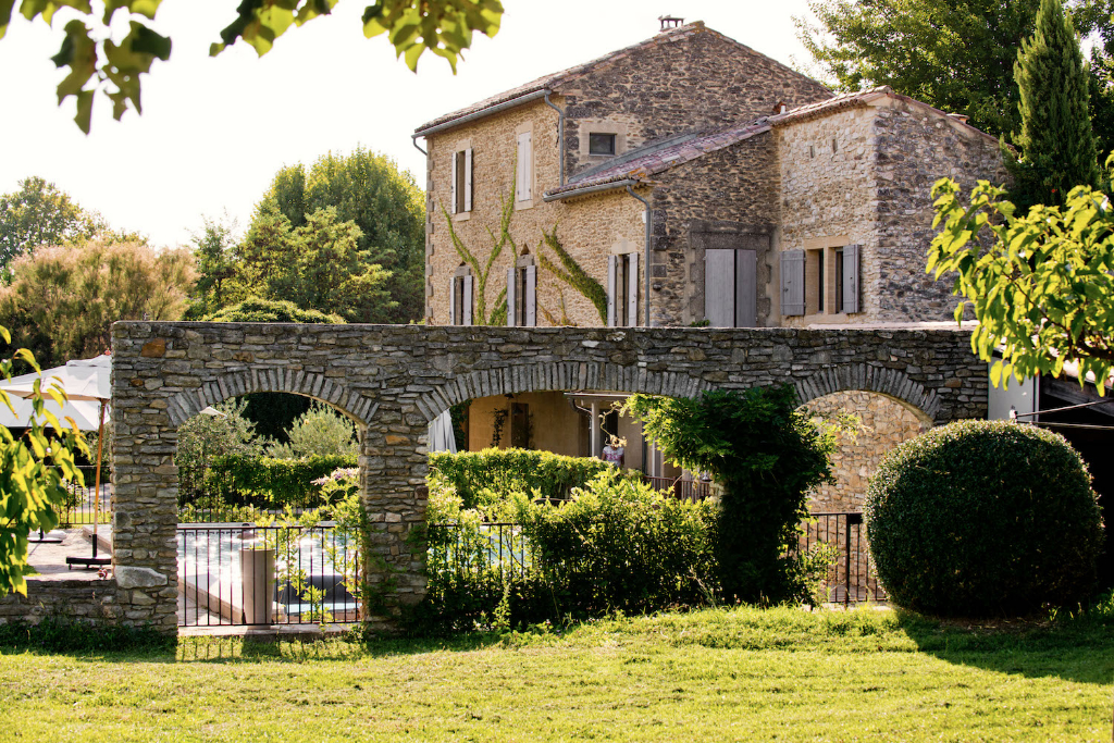 Uzès region, lovely Mas with large gardens, orchards and large heated pool.