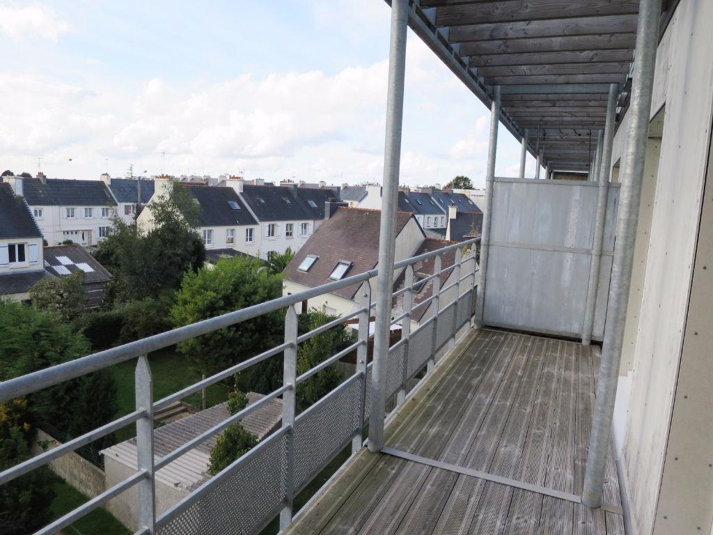 A LOUER BREST  PETIT KERZU / PEN AR C'HLEUZ  APPARTEMENT T2  50.05 m²  RESIDENCE BBC 2013  DERNIER ETAGE  TERRASSE