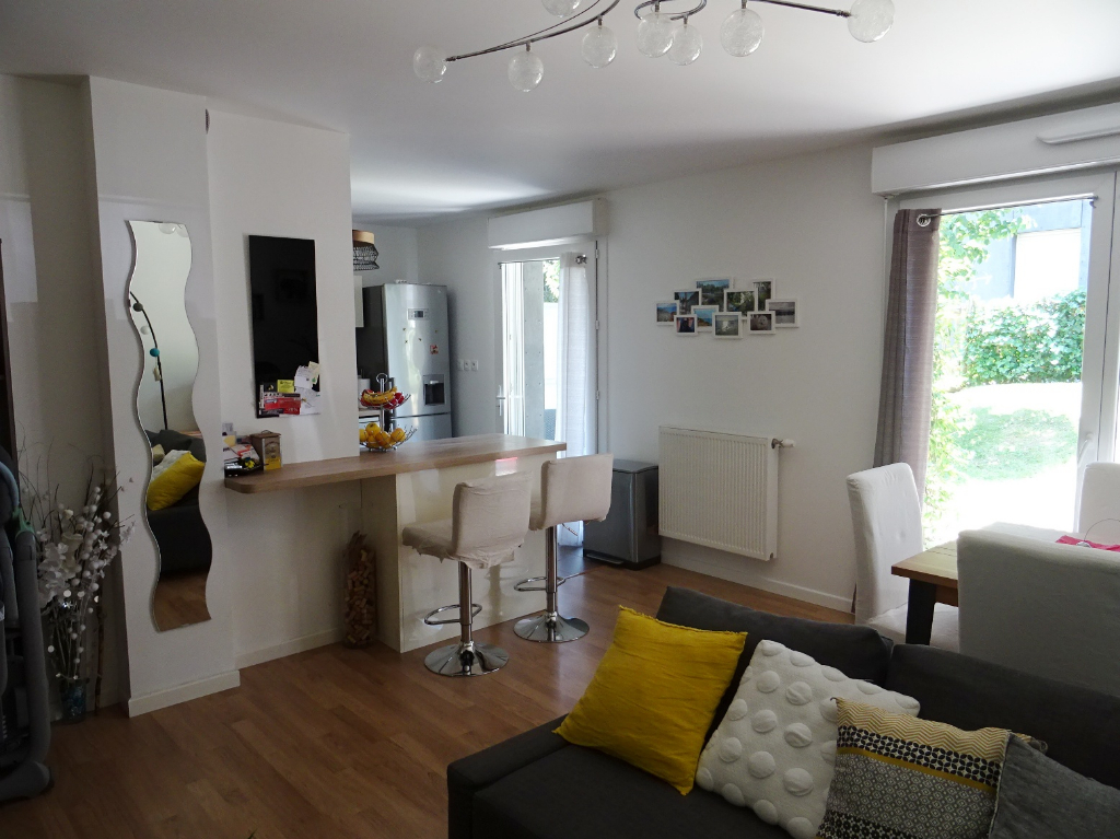 A VENDRE  BREST  EUROPE / PEN AR C'HLEUZ  APPARTEMENT T2  53.8m²  RESIDENCE BBC 2013    JARDIN PRIVATIF    TERRASSE