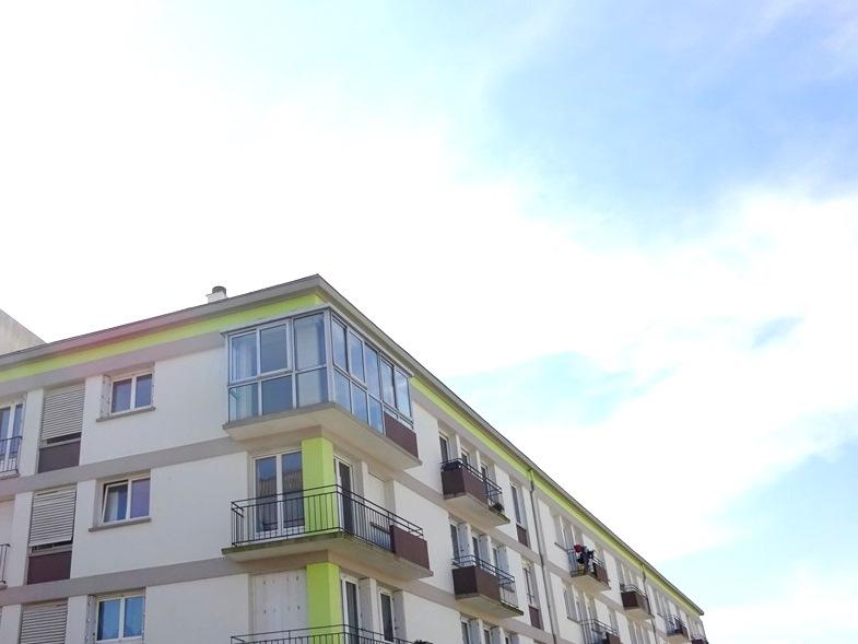 A VENDRE BREST SAINT LUC APPARTEMENT T3 de 71.10 m² habitables VUE DEGAGEE