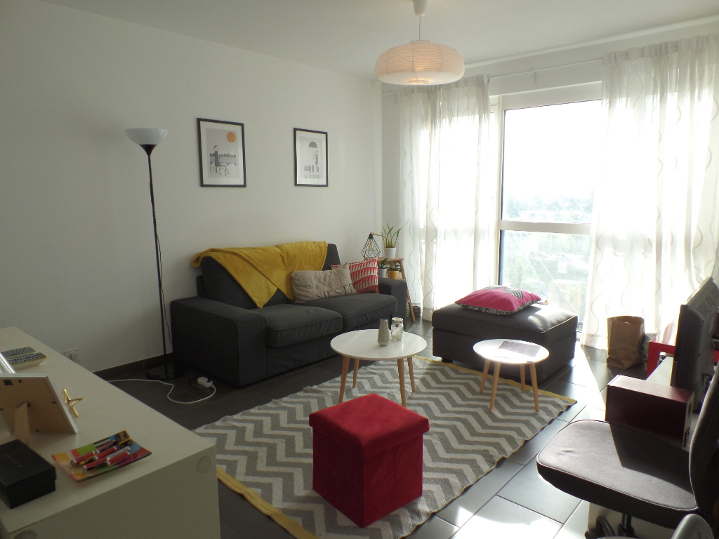 A LOUER BREST PARC STRASBOURG APPARTEMENT T1 39,81 m2 RESIDENCE RECENTE ASCENSEUR PARKING PRIVATIF