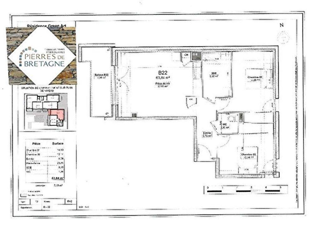 Appartement Brest - 3 pièce(s) - 63 m2