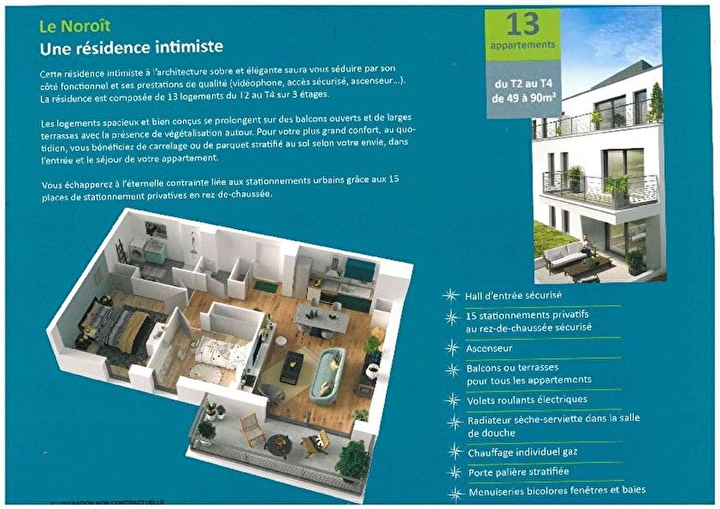Appartement Brest - 3 pièce(s) - 75 m2