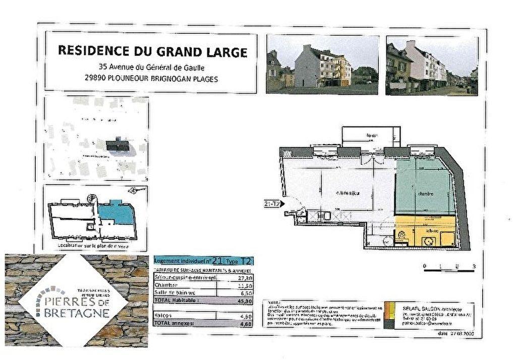Appartement Brignogan Plages - 2 pièce(s) - 45 m2