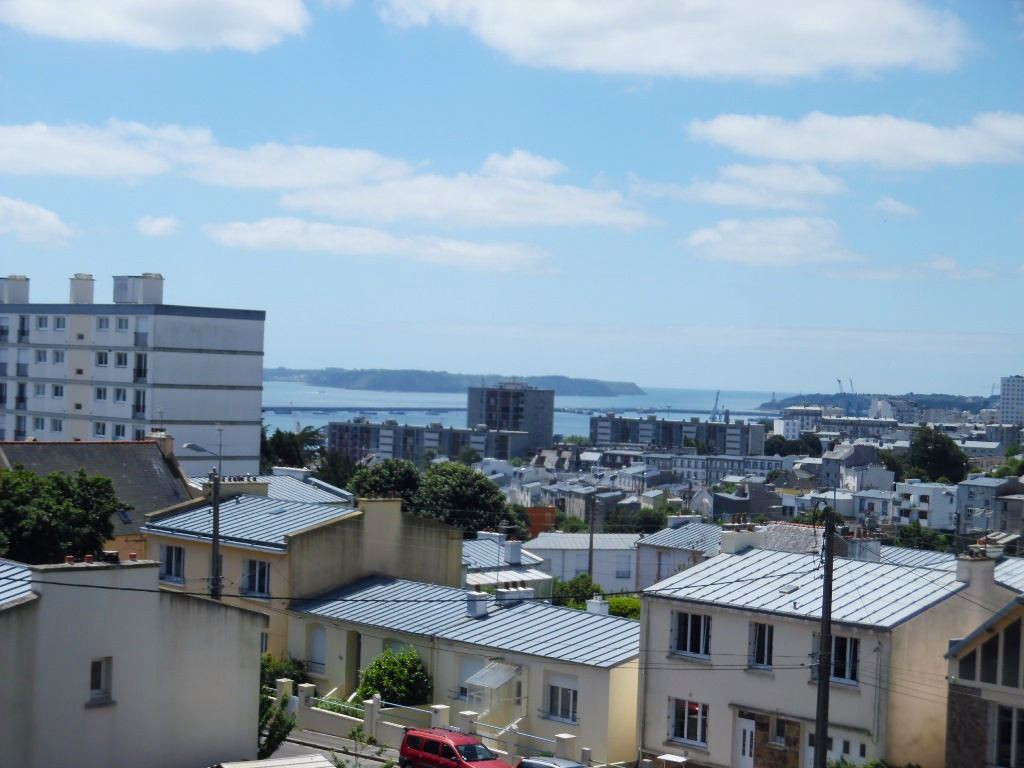 A VENDRE  BREST  LE GUELMEUR   SAINT MARC  APPARTEMENT  T3  59M²  ASCENSEUR  PARKING  BALCON VUE MER