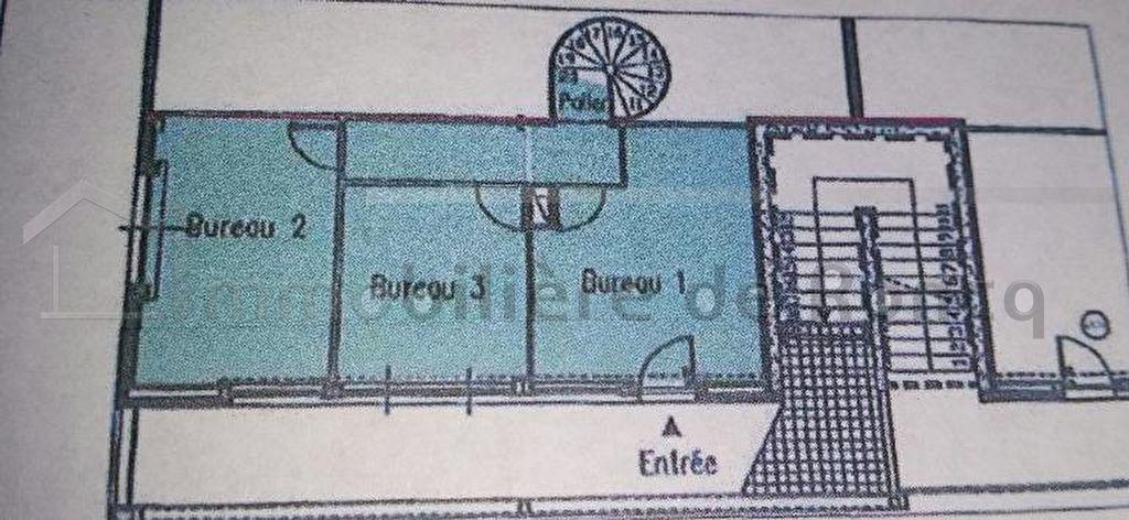 Bureaux  3 pièce(s) 48 m2