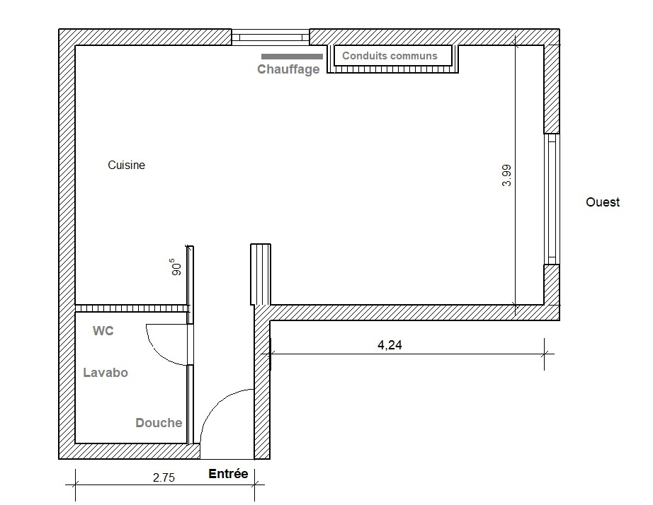 Grand T1 de 32 m2 Orleans Sud proche loire + parking privé