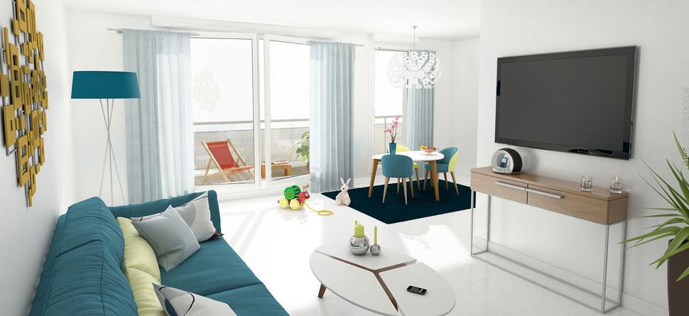 Appartement  de 60m²  avec balconà proximité de toutes les commodités