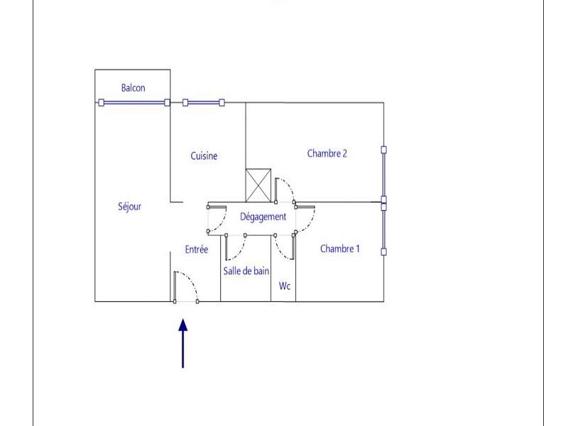 Appartement Meulan En Yvelines 3 pièce(s) 63.17 m2