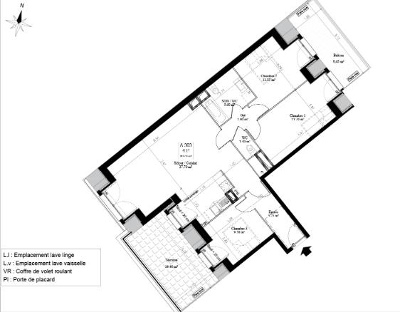 Appartement Savigny Sur Orge 4 pièce(s) à 25 minutes de Paris
