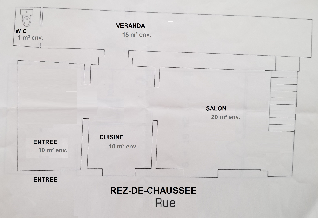Possible Investisseurs Maison à rénover Orleans 4 pièce(s) 93 m2 proche tramway