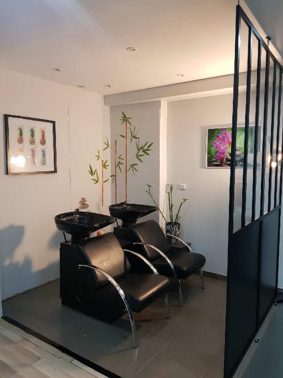 Salon de coiffure mixte hyper centre Le Mans 2 bacs, 4 postes