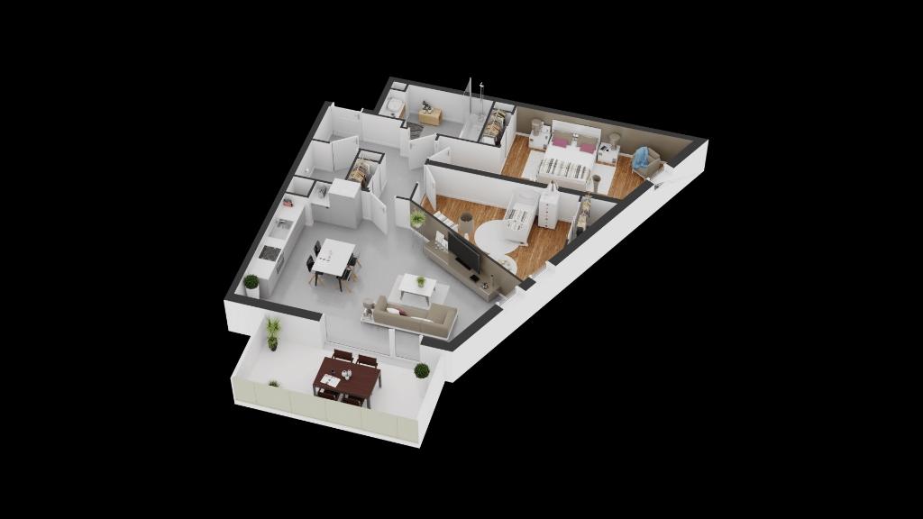 Appartement  3 pièce(s) 65.96 m2