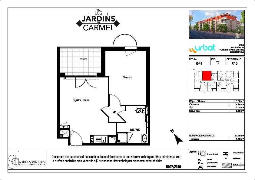 Appartement Sete 2 pièce(s) 38 m2