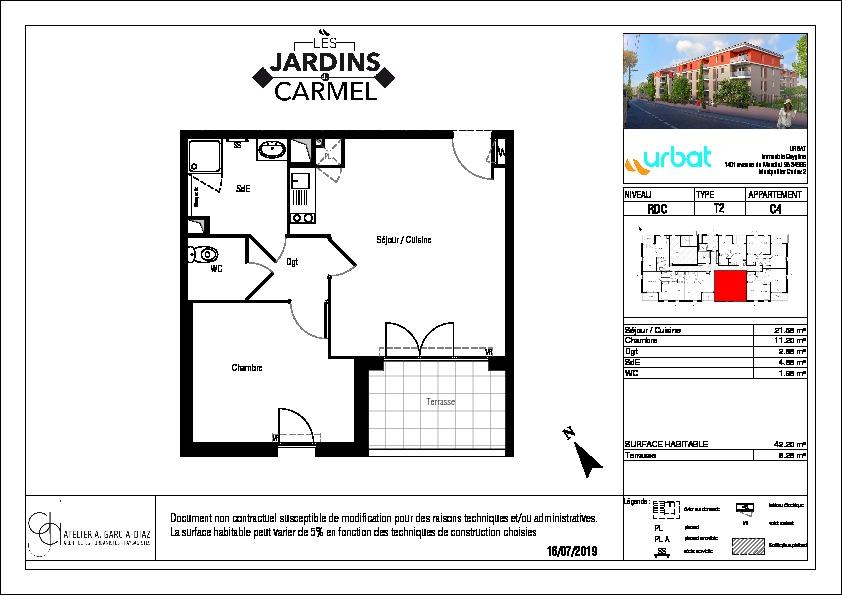 Appartement Demain Nous Appartient 2 pièce(s) 42.20 m2