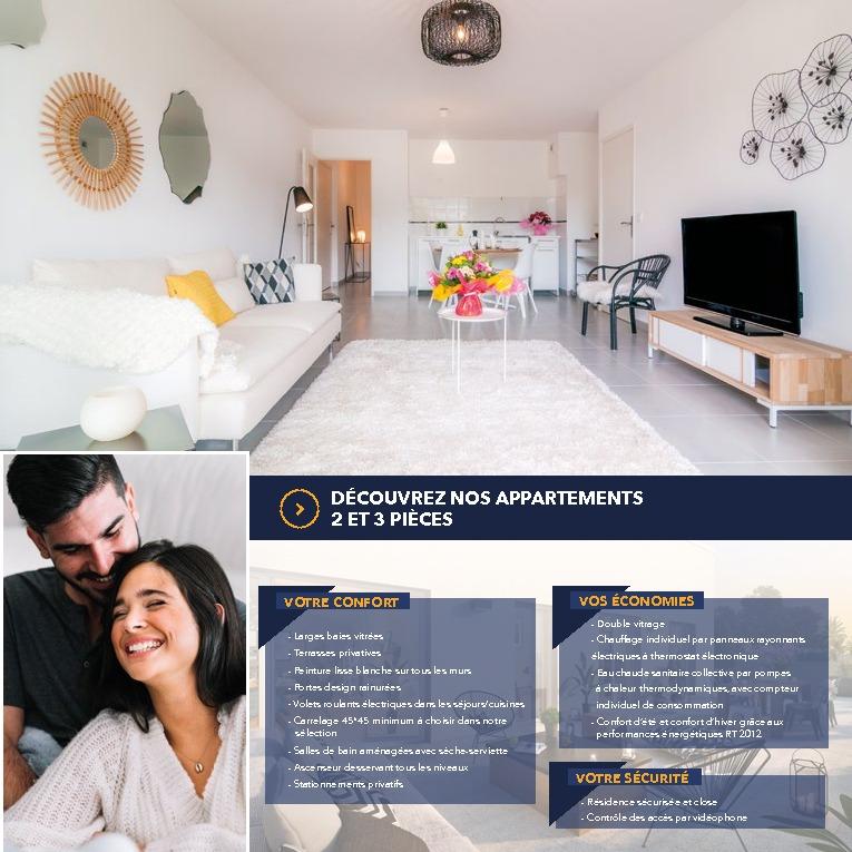 Appartement  2 pièce(s) 44.60 m2