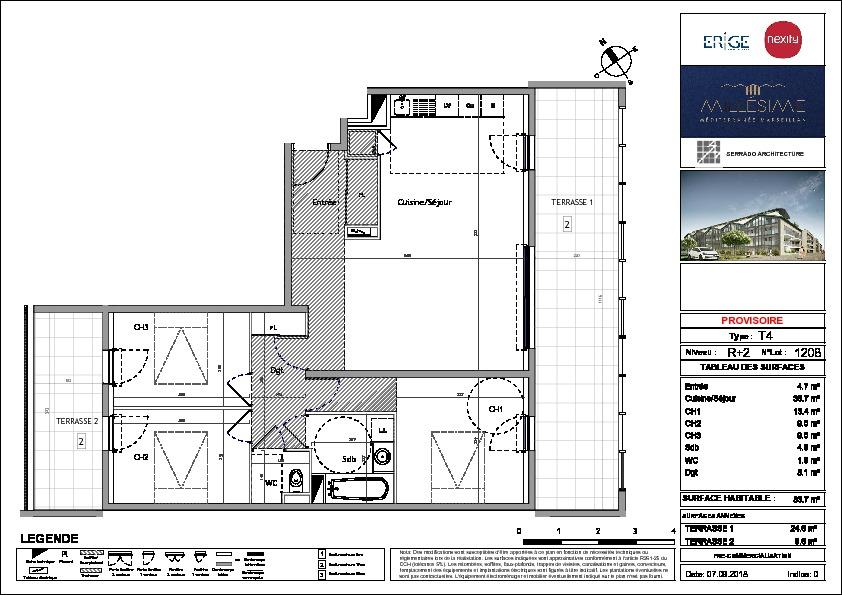 Appartement  4 pièce(s) 84 m2