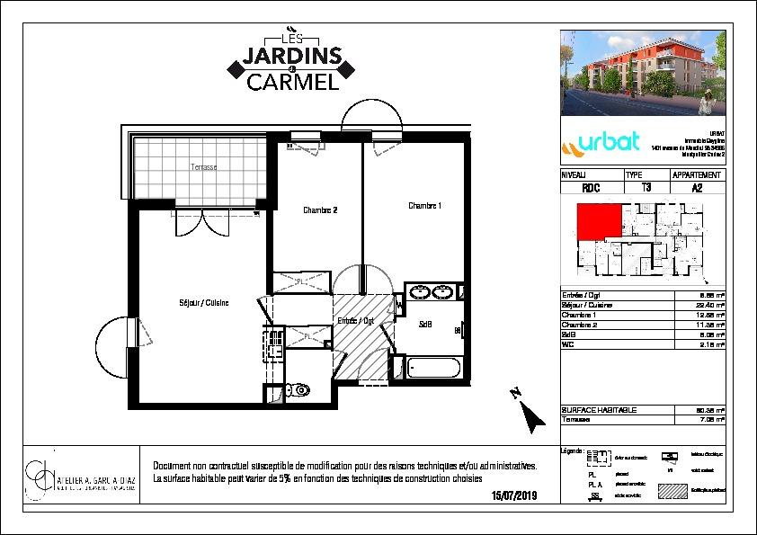 Appartement Sete 3 pièce(s) 60.35 m2