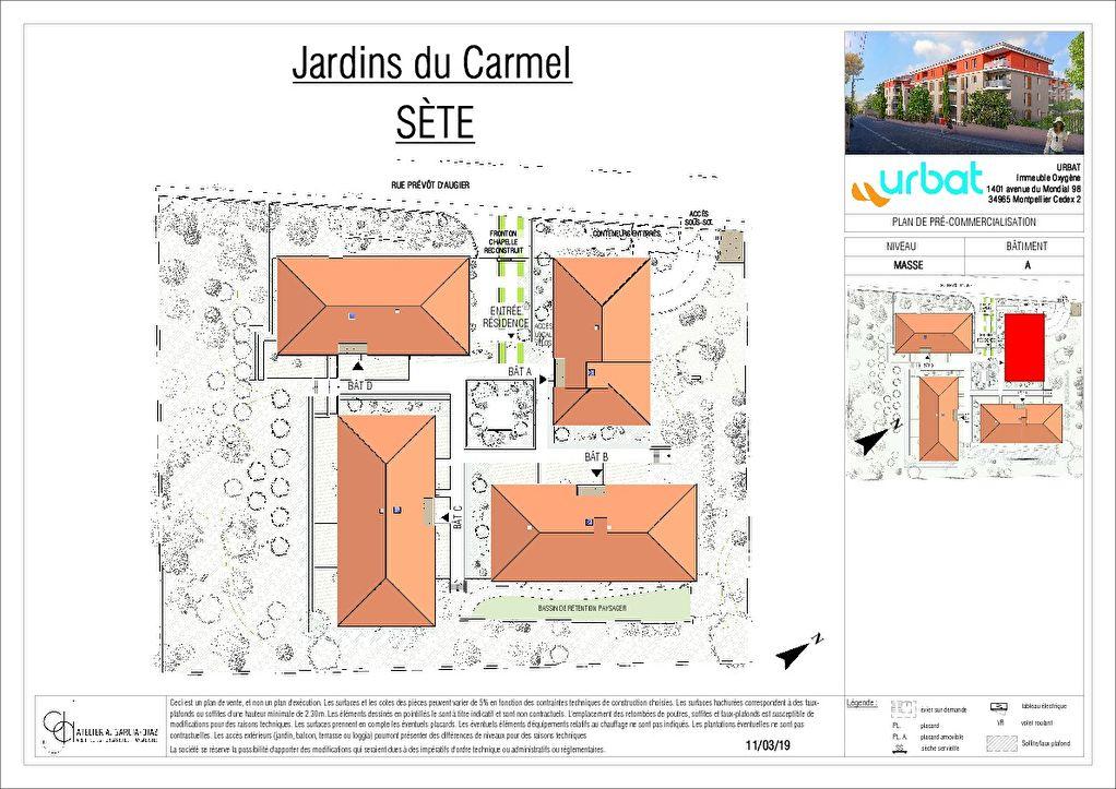 Appartement Sete 3 pièce(s) 59.50 m2