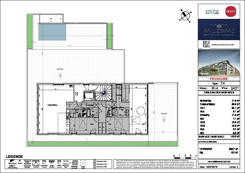Appartement Marseillan 4 pièce(s) 3 m2