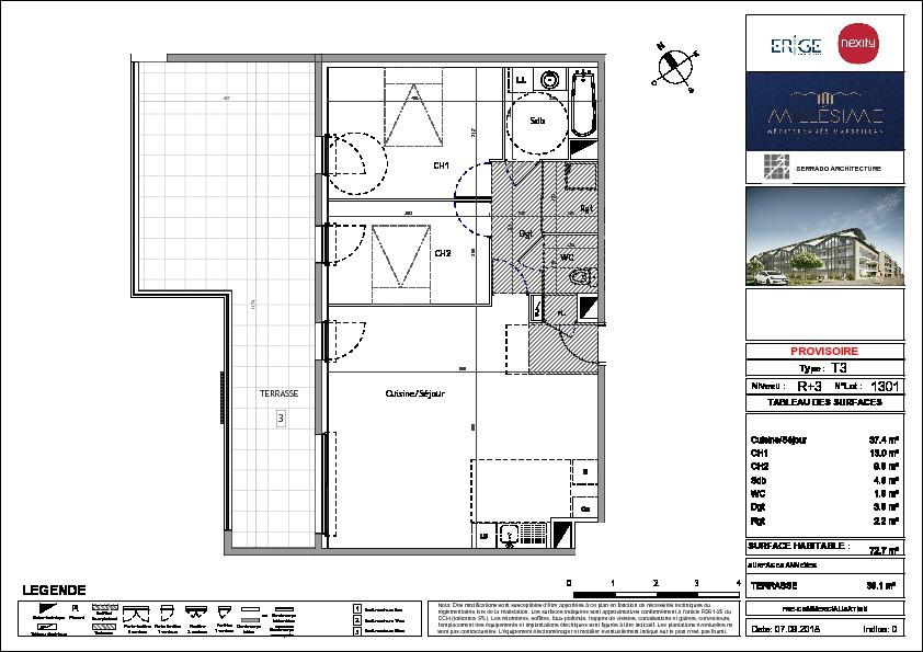 Appartement  72.7 m2
