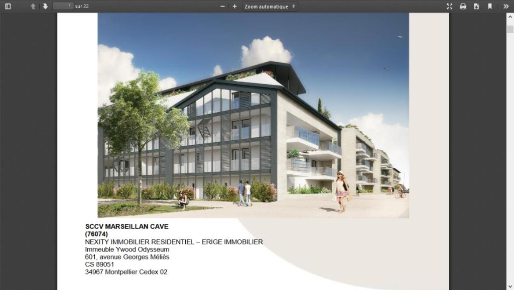 Frais de notaire réduits: Appartement  3 pièces + terrasse sur le port de Marseillan (34)