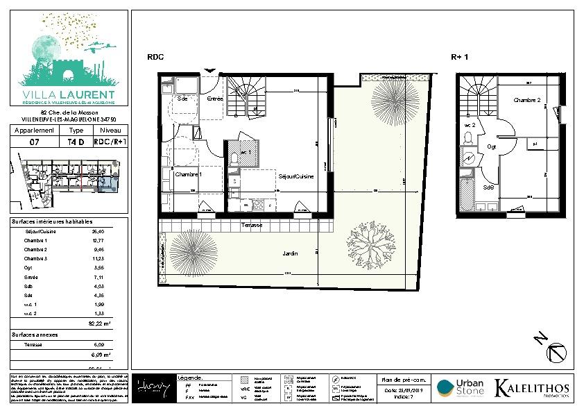 Appartement  4 pièce(s) 84.37 m2