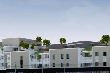 Appartement  2 pièces (37.95 m2) avec terrasse et vue.