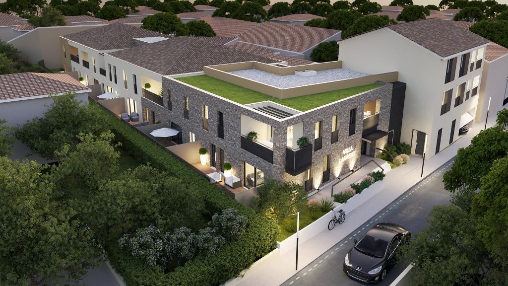 Appartement  4 pièces  (75.46 m2) + terrasse (FRais not. réduits) prox centre ville, mer, étang et Montpellier