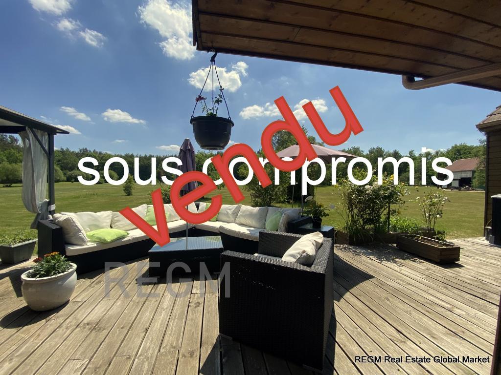 Dpt Loiret (45), SURY AUX BOIS,  Havre de paix de 220m²  sur un parc de 5 ha, architecture contemporaine, construction bois - 5 chbres