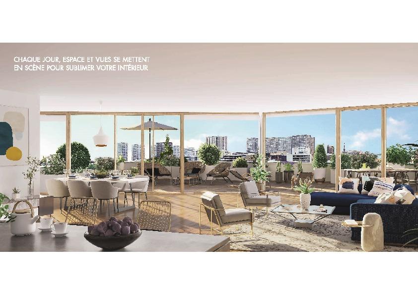 Paris 13,  4 pcs 123 m2 avec terrasse de 37 M2