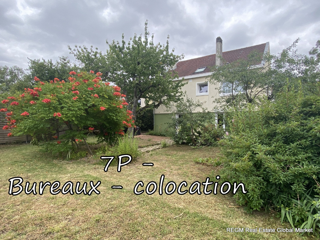 Orléans (45) - St Marceau - cabinets / bureaux / co-location - 7 P -6 Chbrs 160 m2 - Jardin