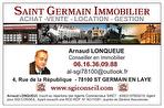 Saint Germain 1' RER, Centre 2 pièces 47 m2