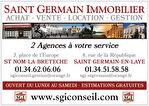 SAINT GERMAIN EN  LAYE  LOCATION Appartement - 1 pièce(s) - 32 m2