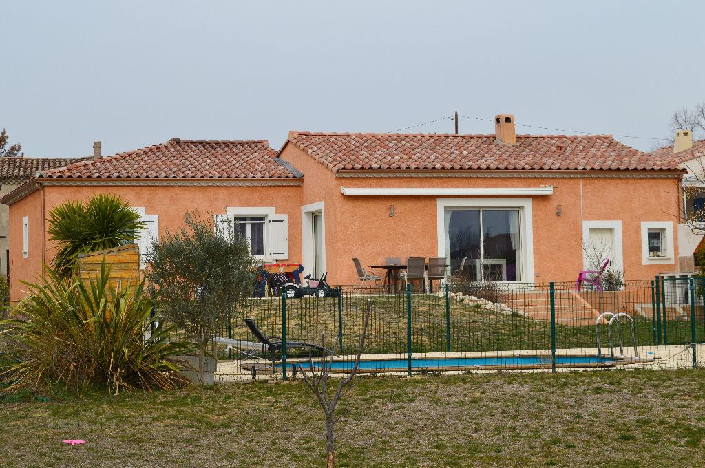 St Christol les Alès villa  5 pièces  107.20 m2 terrain 1767 m2