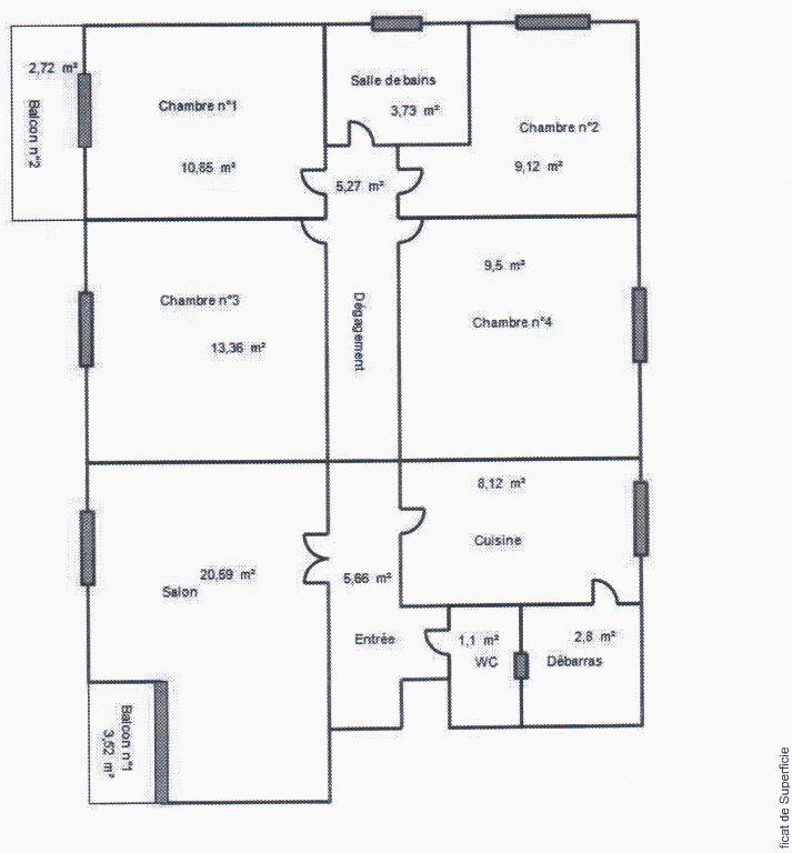 Appartement de 5 pièce(s) au centre de Cahors