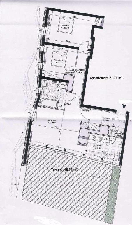 Bibliothèque, location appartement 3 pièces, terrasse + parking
