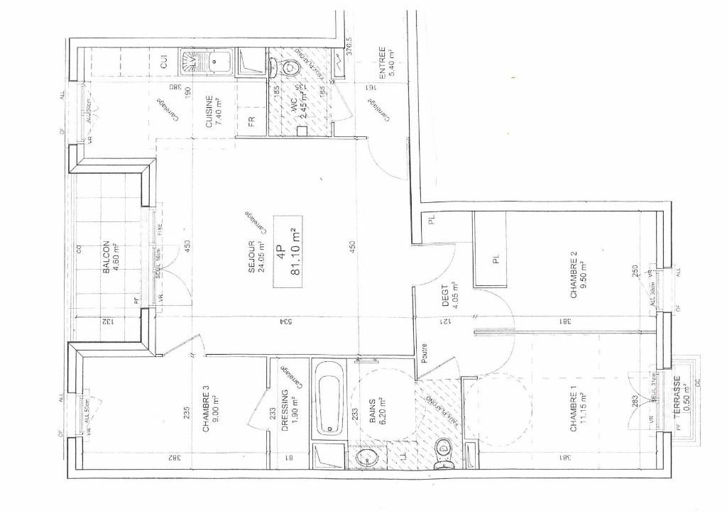 Appartement Chatillon 4 pièce(s) 81 m2