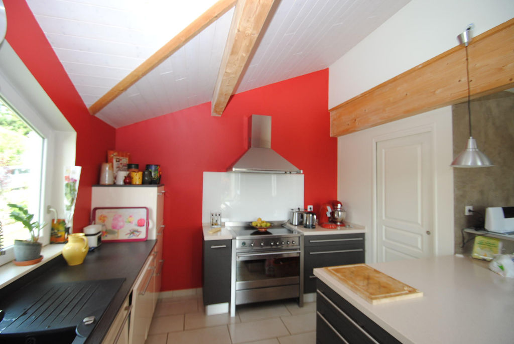 PRIAY VILLA architecte, ossature bois T 5 , 142 m2 - Terrain 919 m²