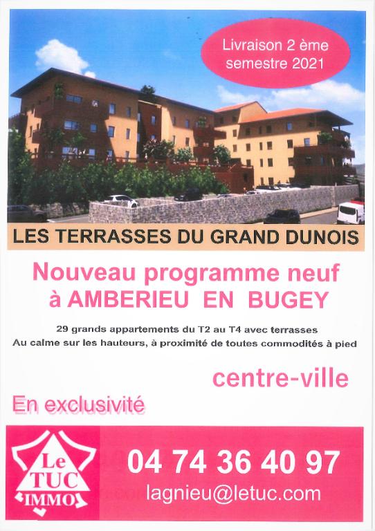 AMBERIEU EN BUGEY CENTRE - Appt T3 de 73 m2 avec balcon