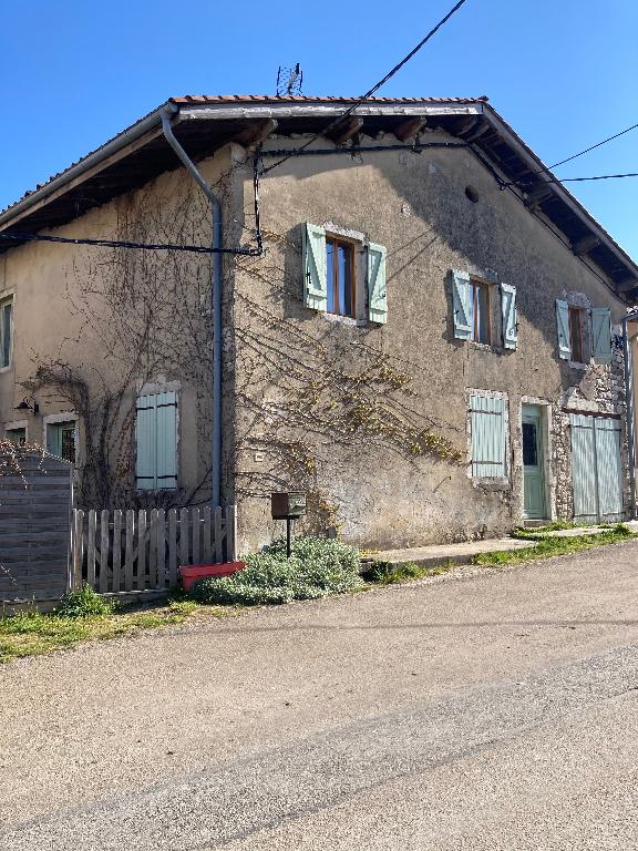 A 30 min de BOURG EN BRESSE, maison de village T5 en pierre de 120 m² avec garage, terrasse et jardin
