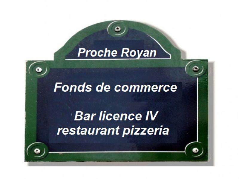 Proche Royan bar licence IV/pizzeria