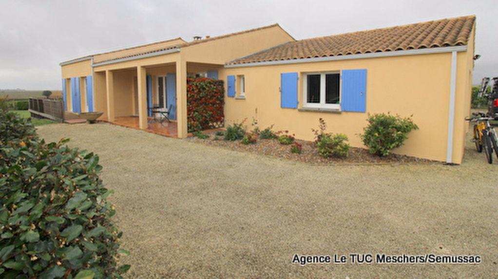 Maison 120 m²  vue estuaire Arces
