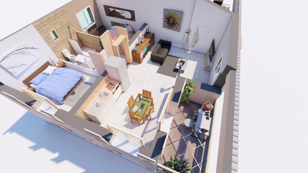 Appartement T3 avec jardin et parking