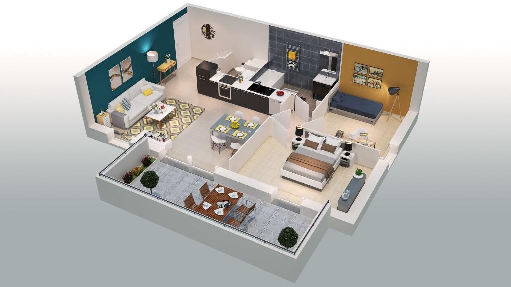 Appartement de standing T3 69 m²