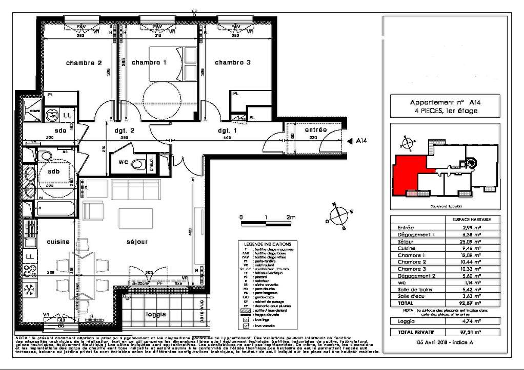 Appartement Saint Maur Des Fosses 4 pièce(s)