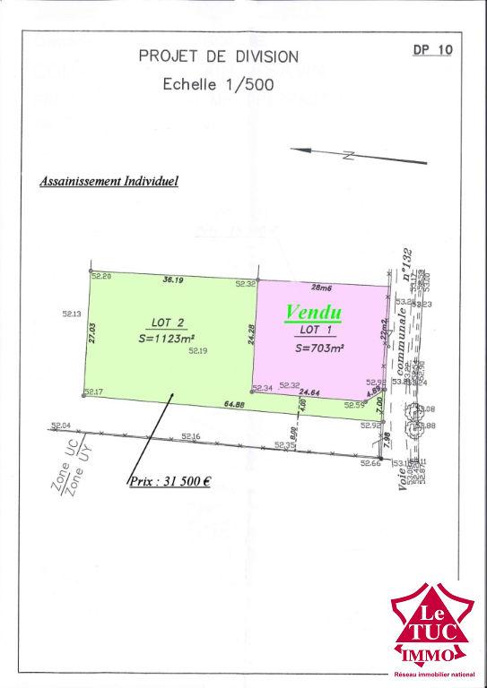 SAINT-SAVIN TERRAIN 1 123 m²